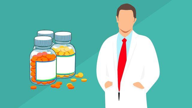 医者と薬品のイメージ